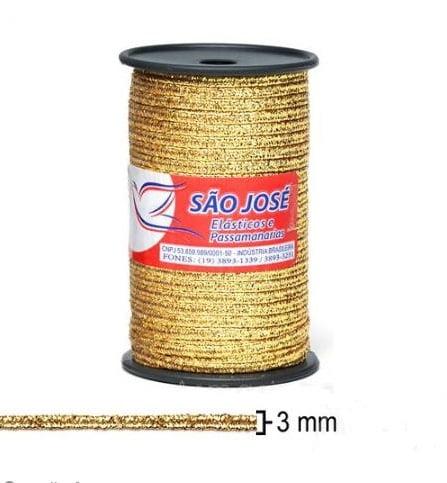 Soutache Ouro 500/03 - 3mm (50 metros) 500/03RL50-023