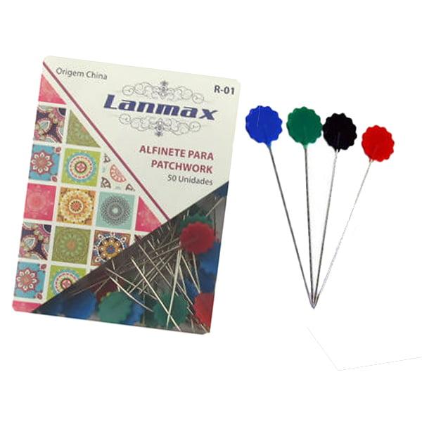 Alfinetes Coloridos Formato de Flor (Caixinha 50pç ) Lanmax p22497