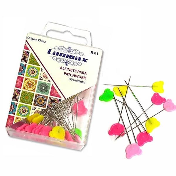 Alfinetes Coloridos Formato de Urso (caixinha 50pç) Lanmax p26771