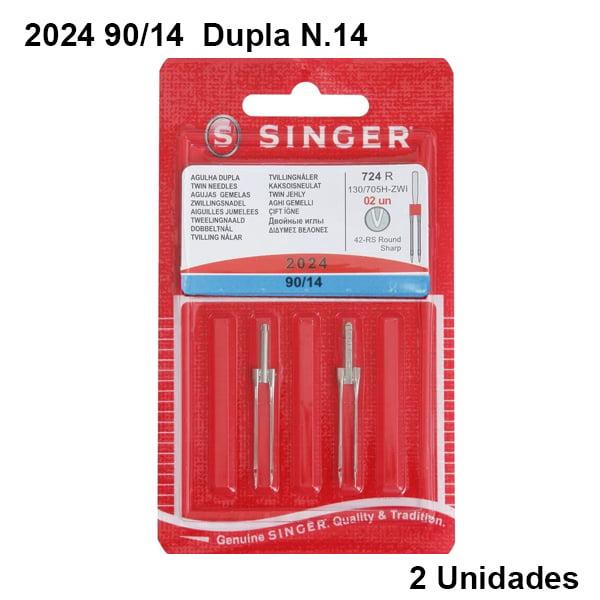 Agulha de Máquina Singer 2024 90/14 Dupla N.14 (2 unidades)