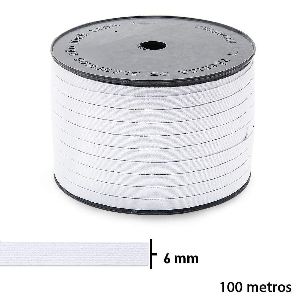 Elástico São José Pigeon Nº10 Branco 06mm Rolo Com 100mts