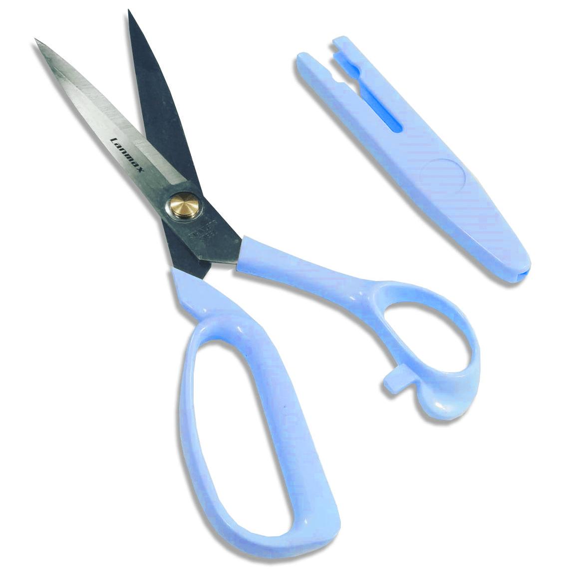 Tesoura Com Protetor 9 - Azul Lanmax p27431_AZUL