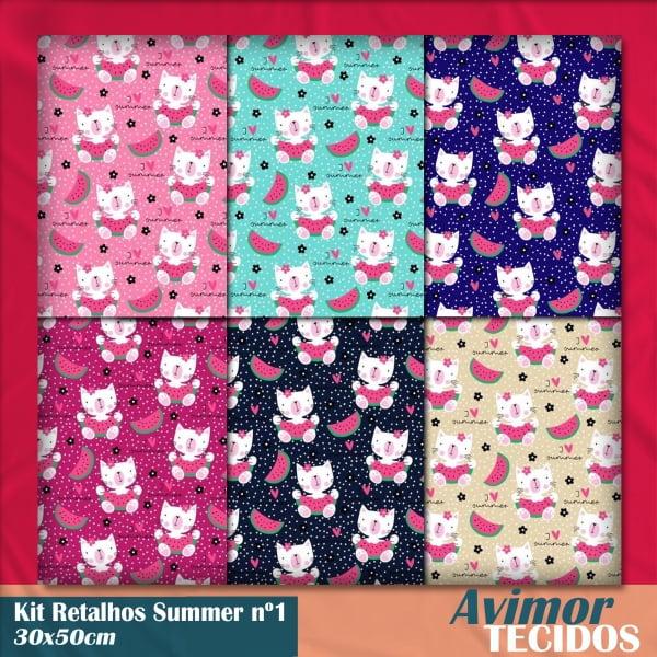 Kit Retalho Tricoline Summer 1 (30 x 50cm)