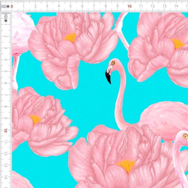 Sarja Estampada Impermeável Flamingo e Flores 9100e4909