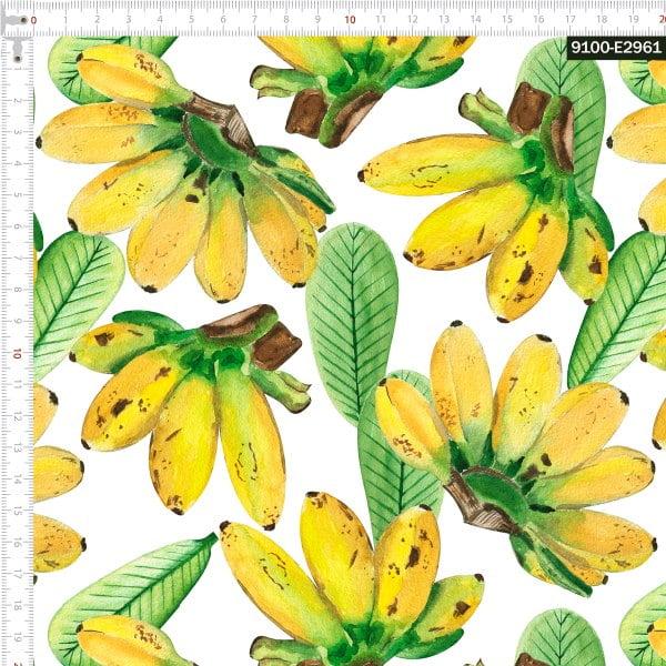 Tecido Tricoline Digital Bananas Tropicais 9100e2961
