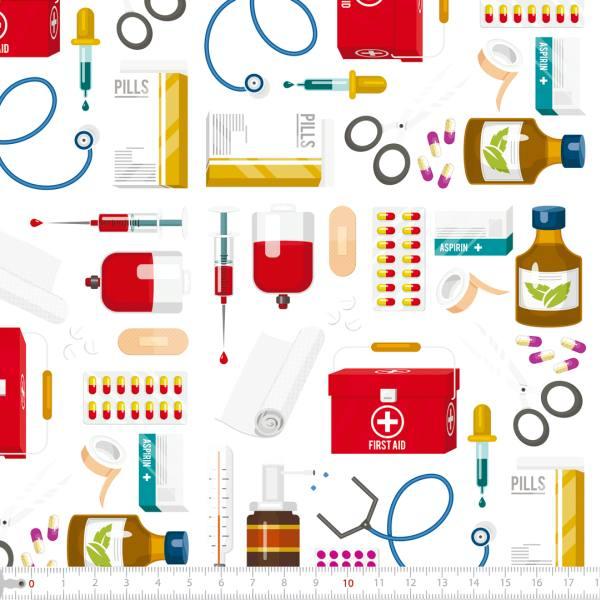 Tecido Tricoline Digital Materiais Médicos 9100e2269