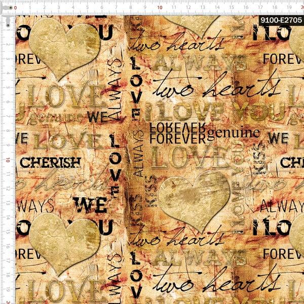 Tecido Tricoline Estampado Digital  Juras de Amor 9100e2705