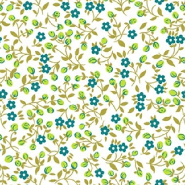 Tecido Tricoline Mista Estampado Mine 3 Floral - 10479