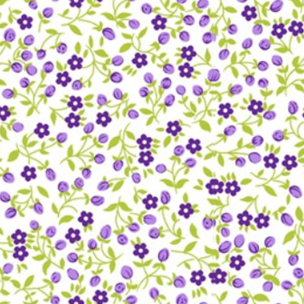 Tecido Tricoline Mista Estampado Mine 4 Floral - 10480
