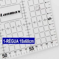 Kit Base De Corte Rosa 45 x60 + Cortador 45mm + Régua 5x60 + Caneta + Alfinete