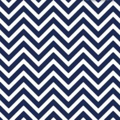 Tecido Tricoline  Estampado Chevron Azul Marinho 14539