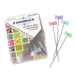 Alfinetes Coloridos Formato de Laço (caixinha 50pç ) Lanmax p26809