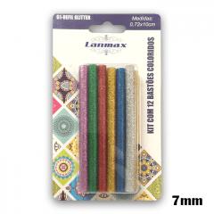 Bastões de Cola Quente com Glitter 12 und 7mm (pequeno) p34136