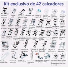 Kit 42 calcadores Pé De Máquina De Costura Doméstica p29079
