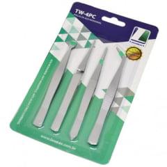 Pinças Aço Inoxidável (04 modelos) - Lanmax p23793