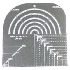 Régua de Gabarito para Curvas e Caixa de Leite (Coloridas) - Lanmax - p30558