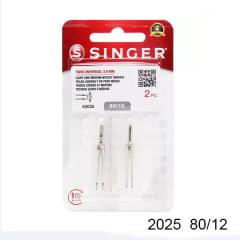 Agulha de Maquina Dupla Singer 2025 nº12 NB25011