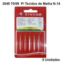 Agulha de Máquina Singer 2045 70/09 Para Tecidos de Malha N.09 (5 unidades)