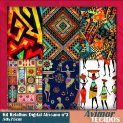 Kit Retalho Digital Africano 2 - 50x75