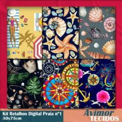 Kit Retalho Digital Praia 1 - 50x75