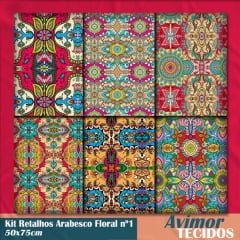 Kit Retalhos Digital Arabesco Floral 2 - 50x75
