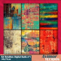 Kit Retalhos Digital Batik 50x75
