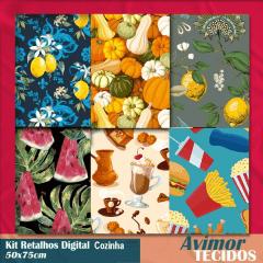 Kit Retalhos Digital Cozinha - 50x75