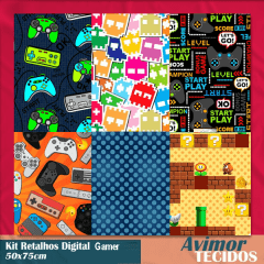 Kit Retalhos Digital Gamer - 50x75
