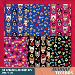 Kit Retalho Animais 7 - 30x75