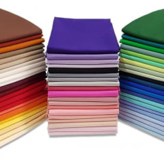 Retalhos De Tecidos Tricoline Liso Coloridas 22 Cortes 50 x 75cm LISO_KIT22