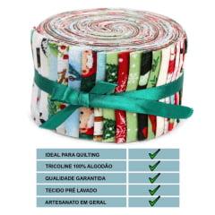 Tiras de Tecidos Tricoline Estampado Sortido Jelly Rolls  (12cm) TE2412