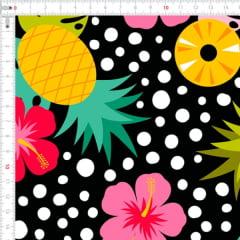 Sarja Estampada Impermeável Abacaxi Floral 9100e4608