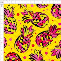 Sarja Estampada Impermeável Abacaxi Pink 9100e4595