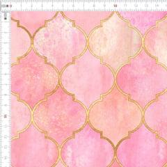 Sarja Estampada Impermeável Geométrico Vintage Marroquino Rosa Claro 9100e4911