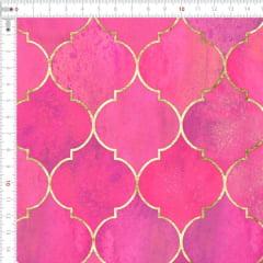 Sarja Estampada Impermeável Geométrico Vintage Marroquino Rosa Forte 9100e4913