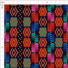 Sarja Estampada Impermeável Ornamento Étnico Colorido 9100e4799