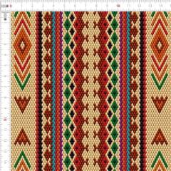Sarja Estampada Impermeável Mosaico Étnico Bege 9100e4805