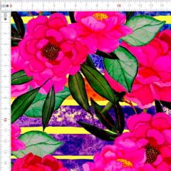 Sarja Estampada Impermeável Floral Listrado 9100e4614