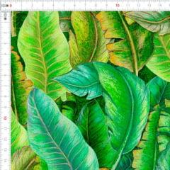 Sarja Estampada Impermeável Folhas Verdes 9100e4629