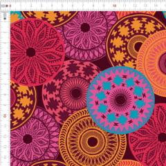 Sarja Estampada Impermeável Manadala Textura Tribal 9100e4901
