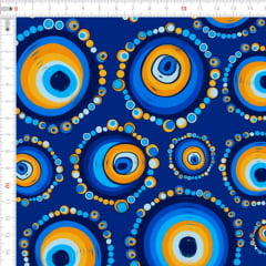 Sarja Estampada Impermeável Mandala Olho Grego Azul 9100e4643