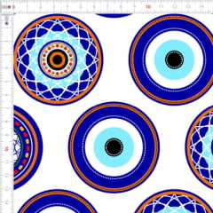 Sarja Estampada Impermeável Mandala Olho Grego Branco 9100e4644