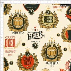 Tecido Tricoline Estampado Digital Cervejaria Alemã 9100e3735