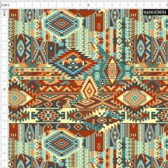 Tecido Tricoline Digital Africano Geométrico 9100e3631