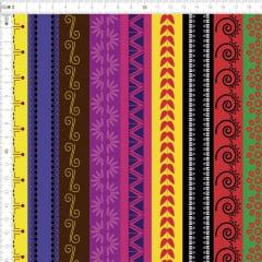 Tecido Tricoline Digital Faixas Geometricas 9100e1777