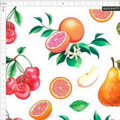 Tecido Tricoline Digital Recorte Para Aplicação Frutas 9100e4175
