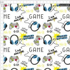 Tecido Tricoline Digital Gamer Moderno 9100e3618
