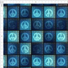 Tecido Tricoline Digital Jeans Paz e Amor 9100e3592