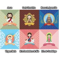 Tecido Tricoline Digital Para Almofadas Religiosa (KIT 1) 9100e1388a