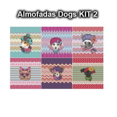 Tecido Tricoline Digital KIT2 Almofadas Dogs (6 estampas) 9100e1844b